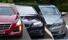 3국 3색 가솔린 세단 비교 - 캐딜락 CTS, BMW 528i, 볼보 S80 T5
