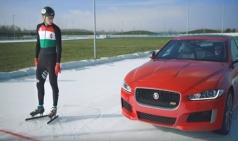 아이스 트랙에서 올림픽 금메달 리스트와 대결 펼친 재규어 XE 300 Sport